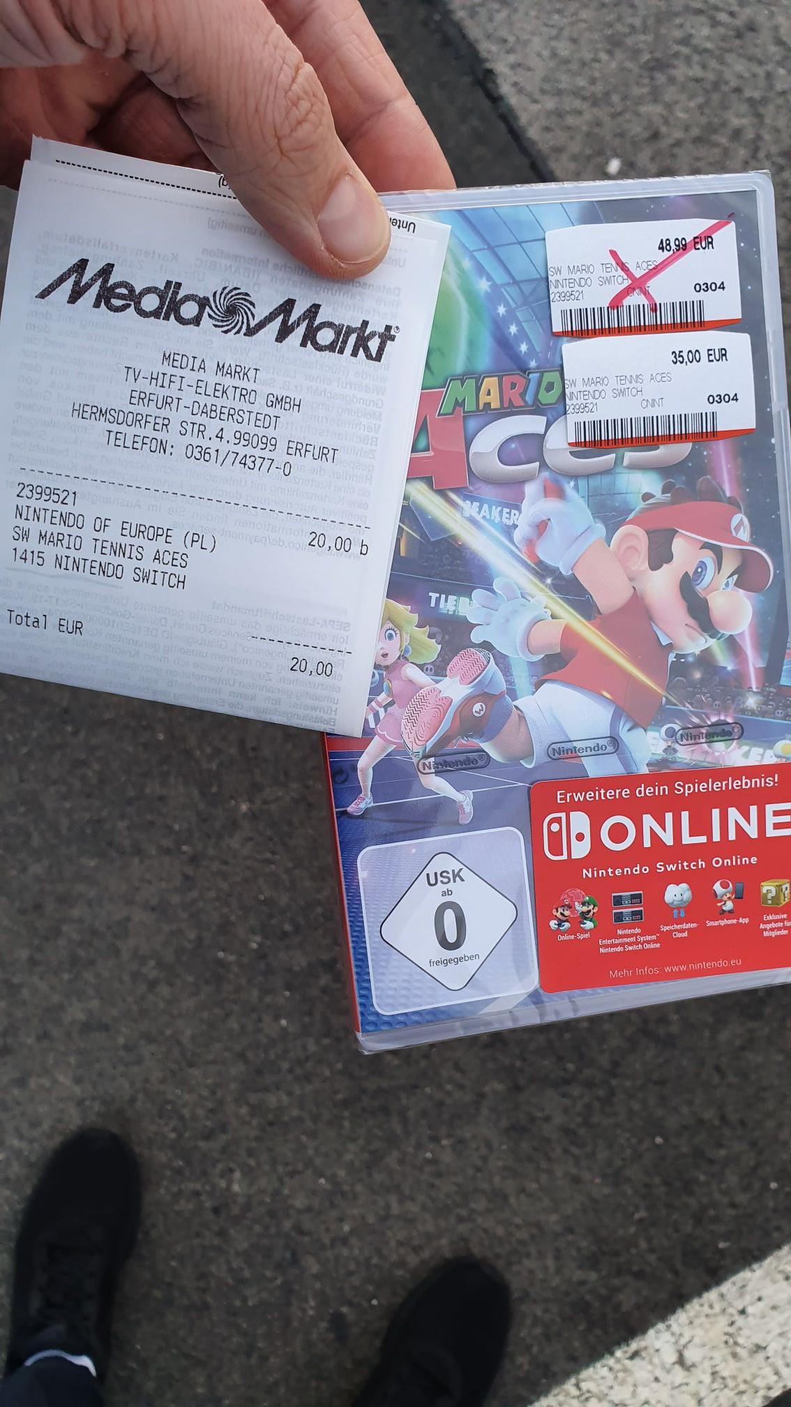 Mario Aces Nintendo Switch (Mediamarkt Erfurt TEC) evtl. Nur Lokal