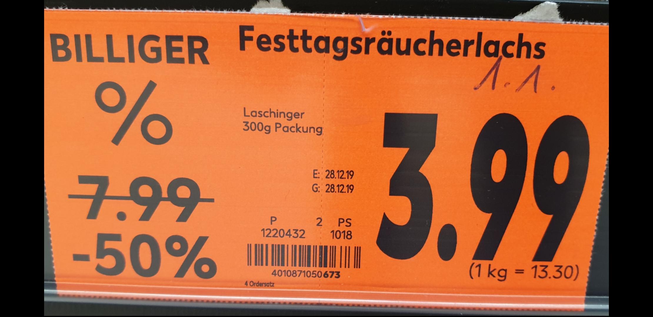 [Lokal München] Räucherlachs 300g Packung für 3,99€, Kaufland PEP