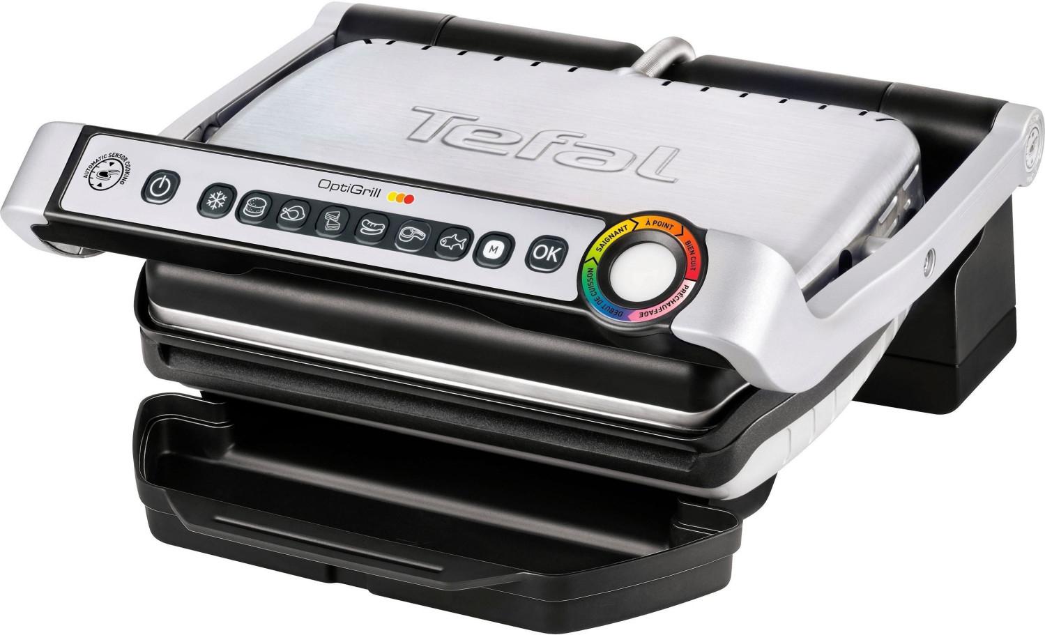 Tefal Optigrill GC 702D, Edelstahl-Ausführung, 2.000 Watt mit Burger-Presse für 77 Euro [Rewe]