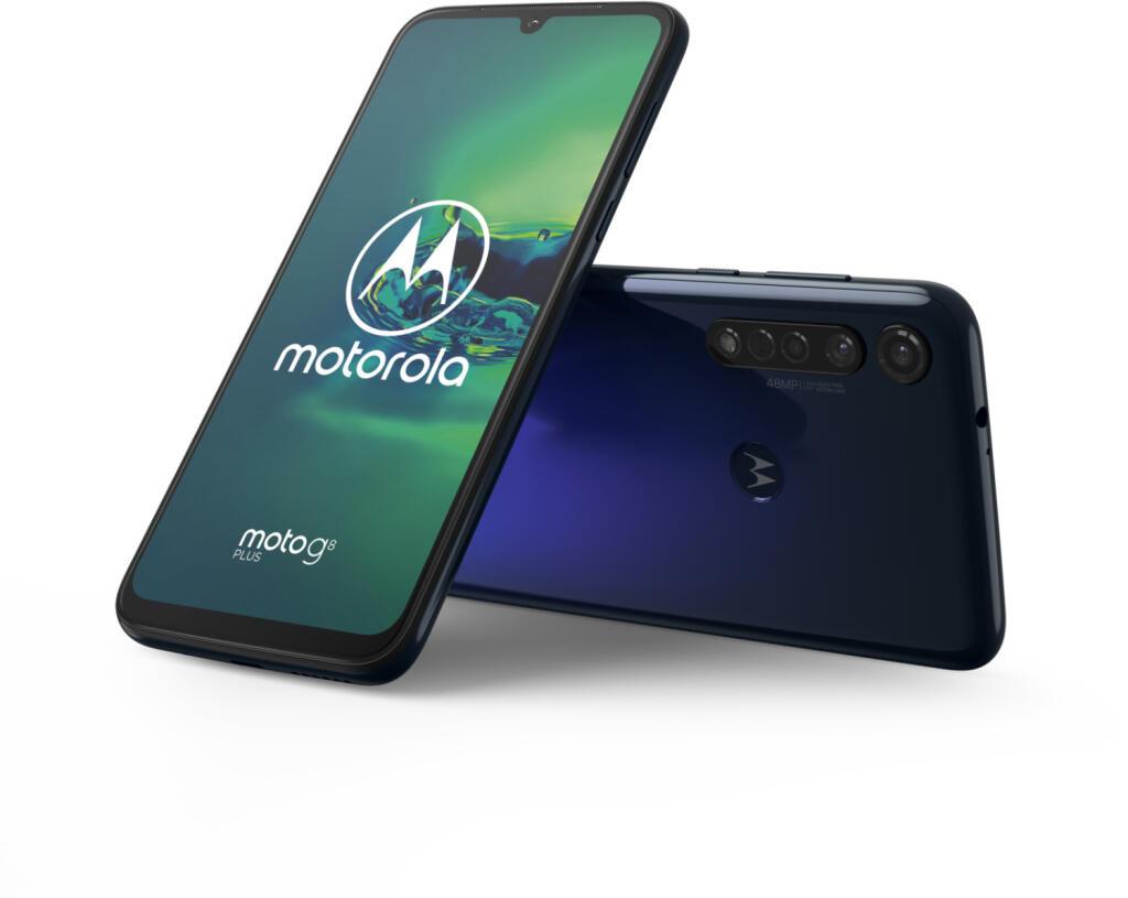 MOTOROLA G8 PLUS, Smartphone, 64 GB, Dunkelblau, Dual SIM für 229€ inkl. Versandkosten