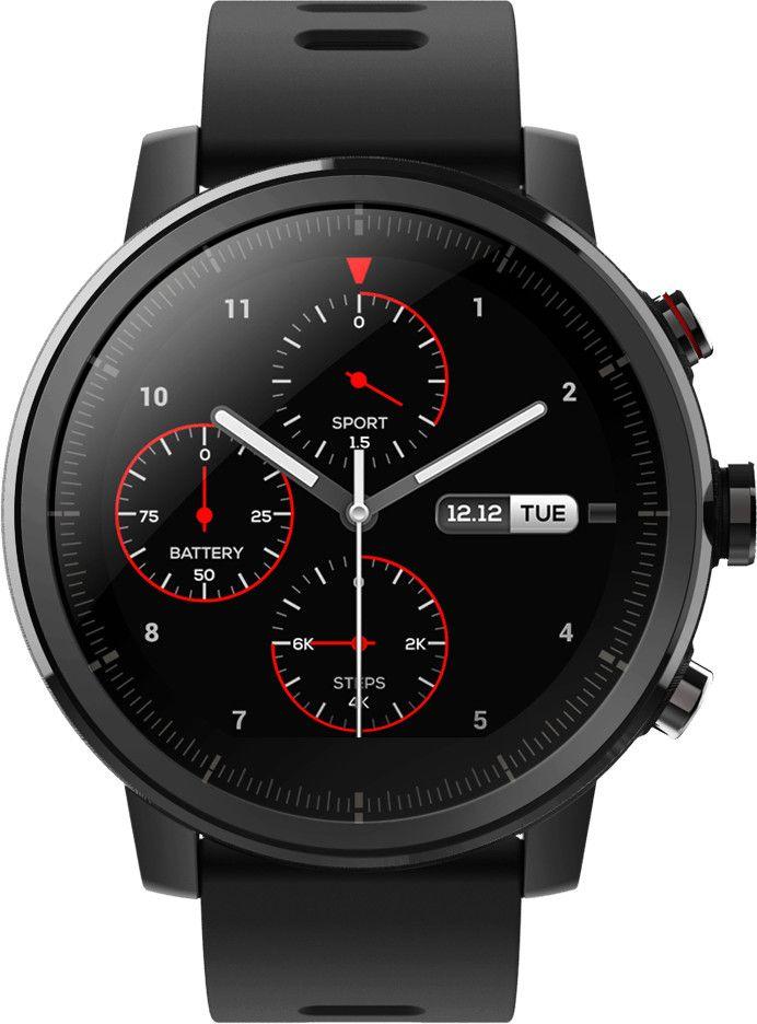 AMAZFIT STRATOS, Smartwatch, Silikon, 195 MM, BLACK [Saturn & Mediamarkt]
