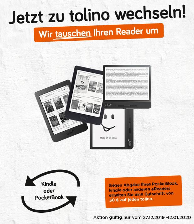 [Lokal Osiander] Gegen Abgabe Ihres PocketBook, kindle oder anderen eReaders/EBook erhalten Sie eine Gutschrift von 50 € auf jeden tolino.