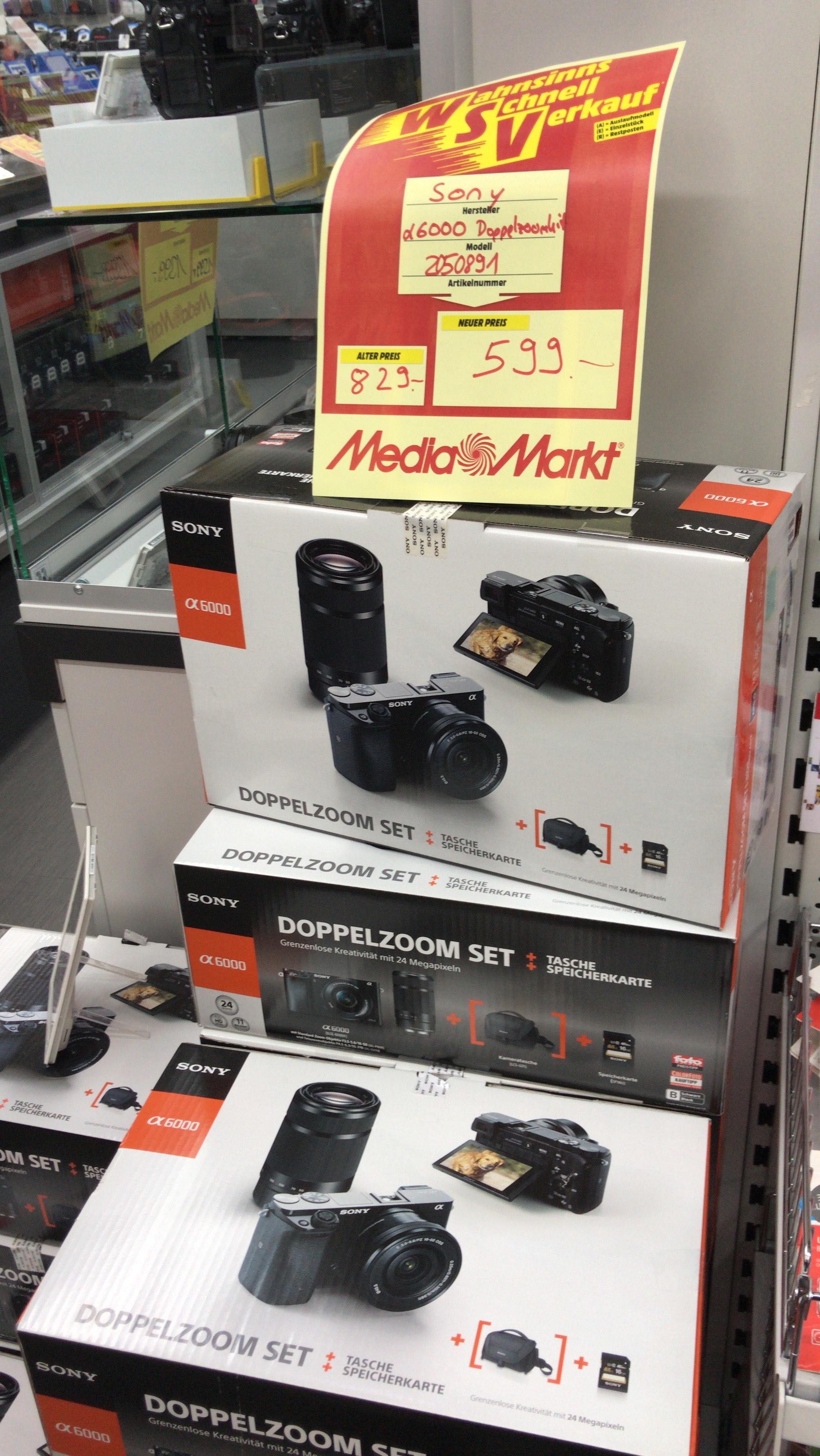 Sony Alpha 6000 Doppelzoom Set im MediaMarkt Ludwigsburg