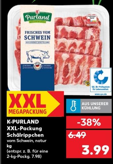 Kaufland - ab 07.01 - XXL Packung Schälrippchen zum Kilopreis von 3,99€