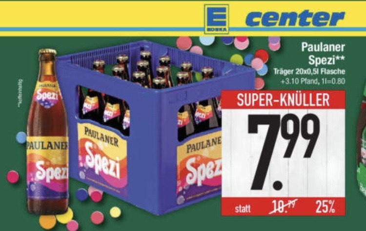 [Edeka Center] Paulaner Spezi - 20 x 0,5l für 7,99 € (+ 3,10€ Pfand) (evtl. regional)