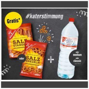 [Edeka Genuss&+] GRATIS Gut&Günstig Salzbrezeln und Wasser zu Silvester