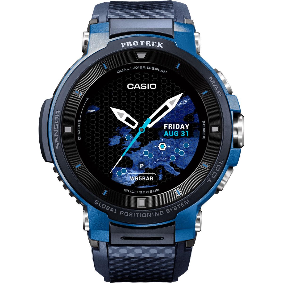 "Casio Protrek WSD F30 Outdoor SmartWatch, Wear OS, 1,2"" OLED"