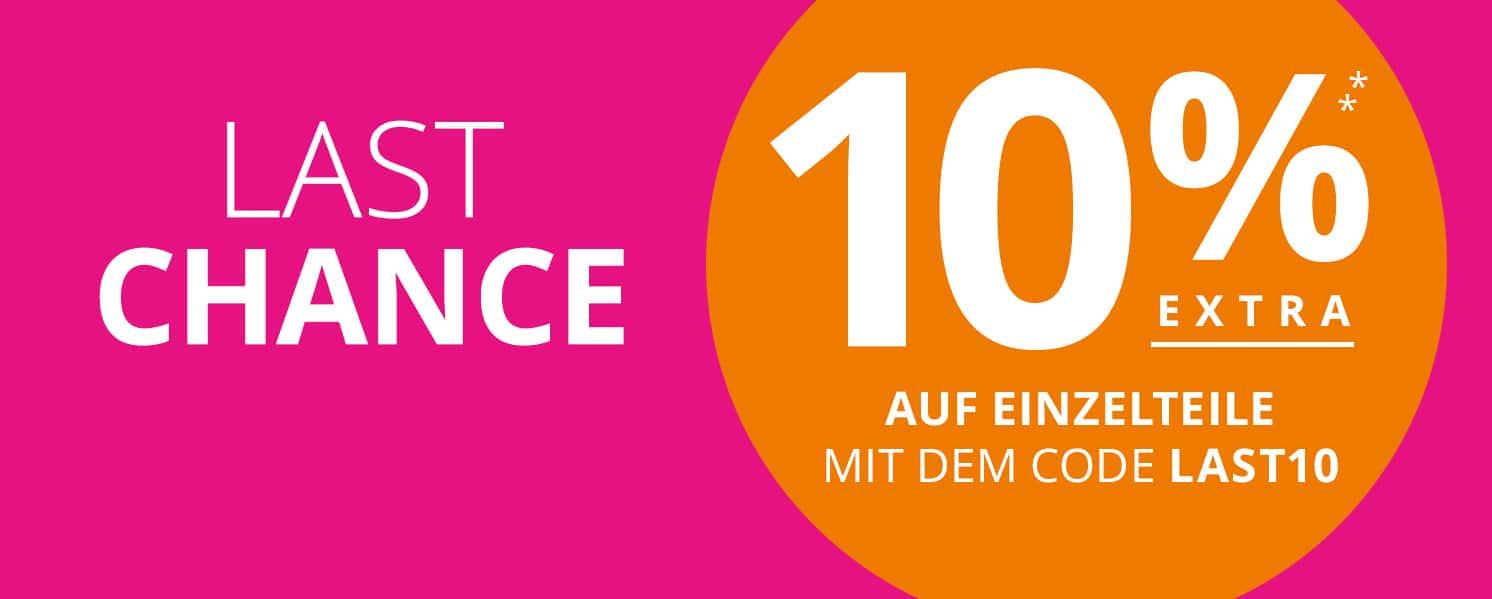 Peek&Cloppenburg*: 10% Extra-Rabatt auf Einzelteile