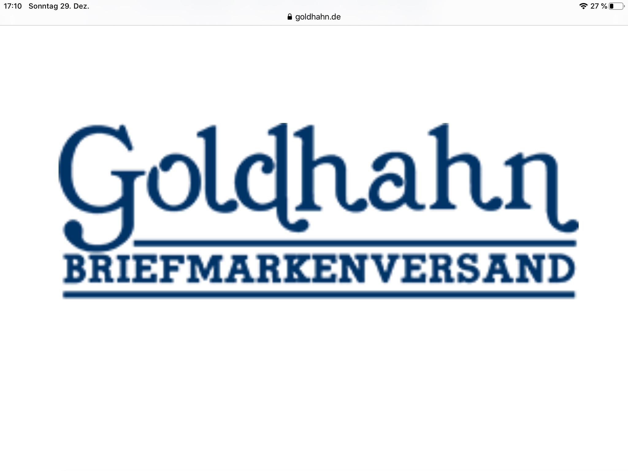 Keine Versandkosten bei Goldhahn Briefmarkenversand (MBW 30€)