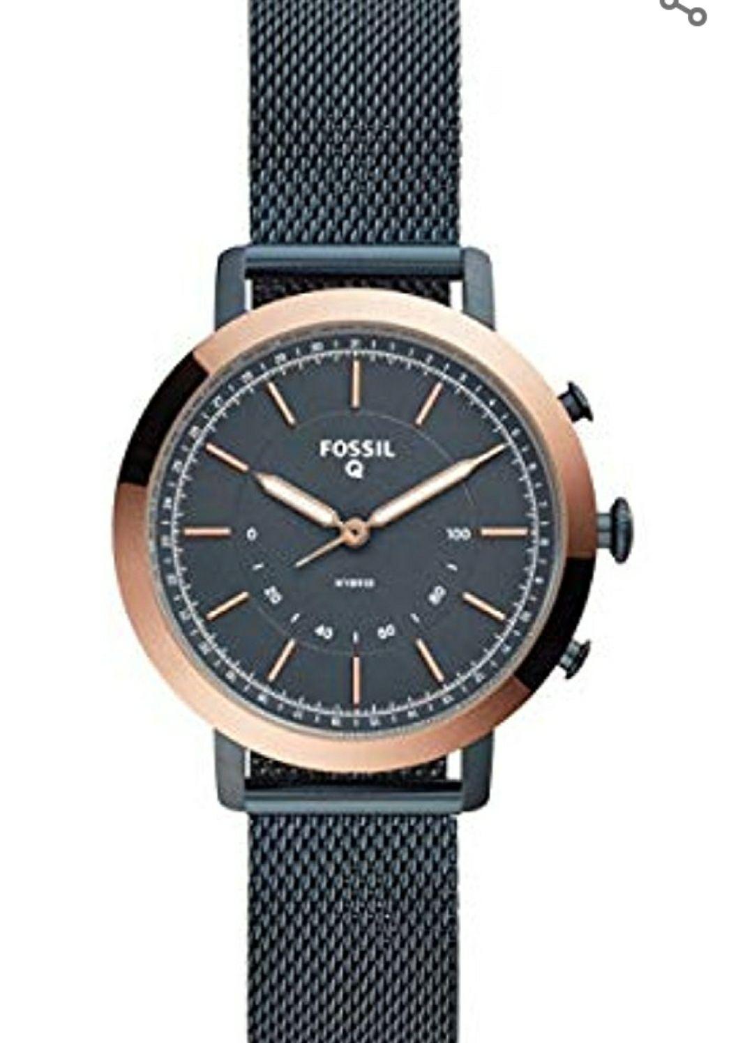 FOSSIL Damen Hybrid Analog Quarz Smart Watch Armbanduhr mit Edelstahl Armband FTW5031
