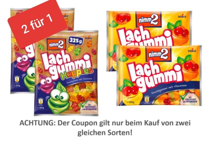Nimm2 Lachgummi 2 für 1(Edeka Nord App)