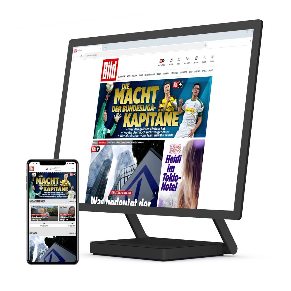 BILDplus Digital - Zwei Jahresabos zum Preis von einem!