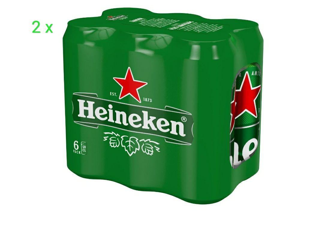 [Grenzgänger] Heineken 2 x 6 x 0,5 l Dose für 6,99€ (1,17€/l)