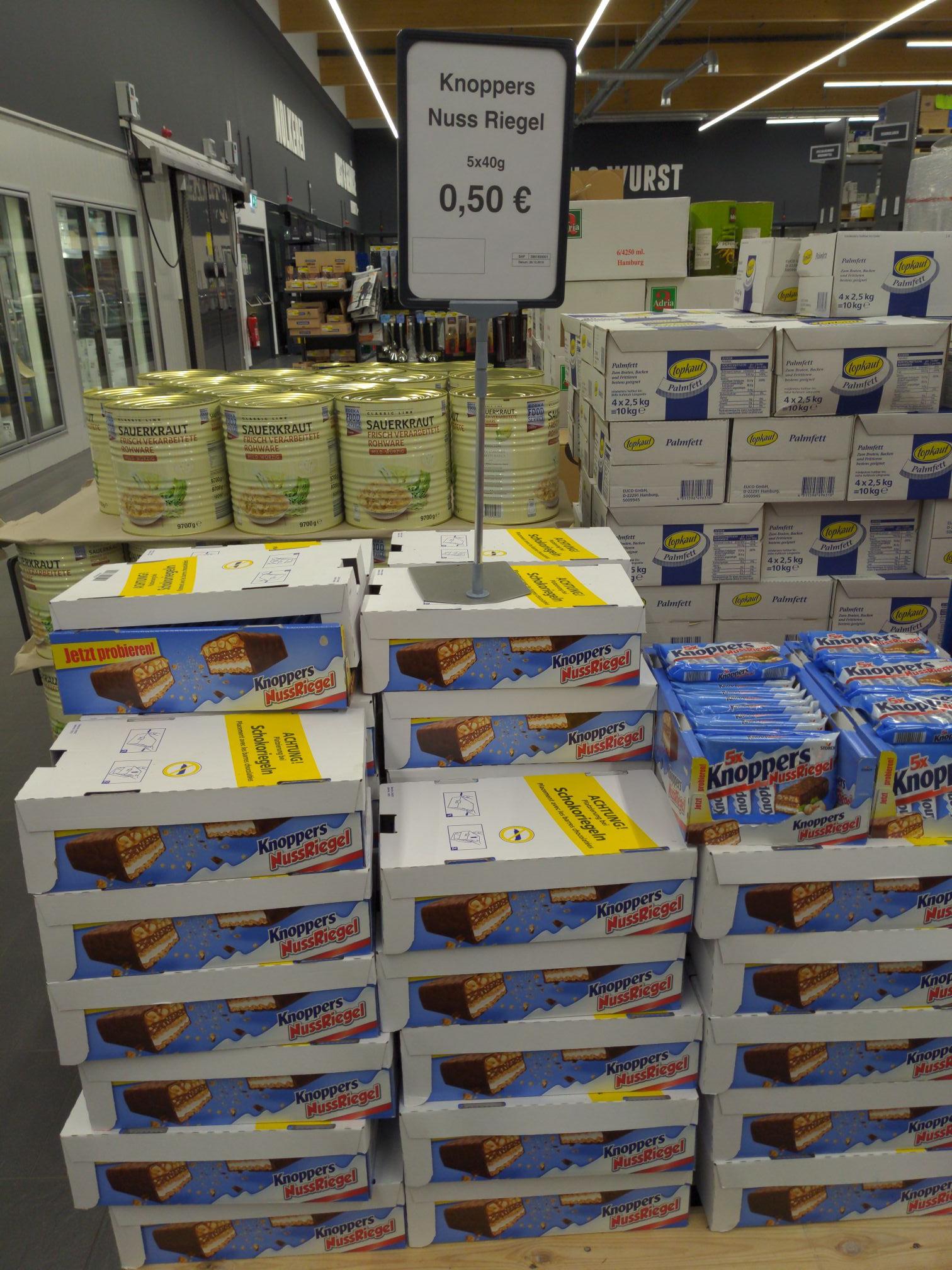 [Lokal Edeka C&C Großhandel Augsburg] Knoppers Riegel 5er Packung (MHD 13.01.20)