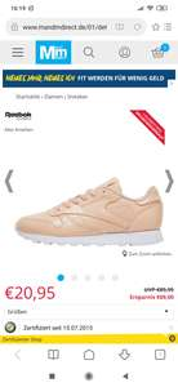 Reebok Classics Damen Classic Leather Patent Sneakers Hautfarbe