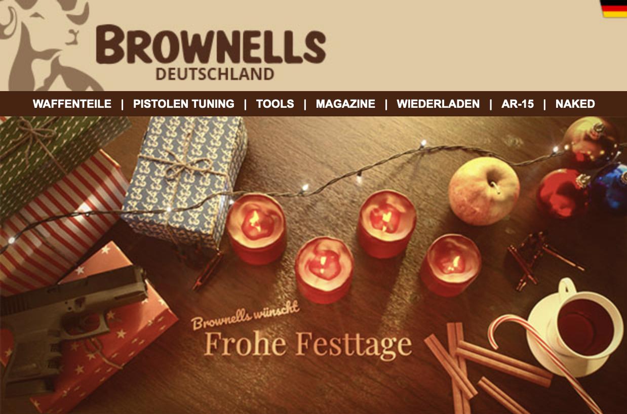 Keine Versandkosten bei Brownells-Deutschland.de bis einschl. 31.12.2019 ( - €3,99 )