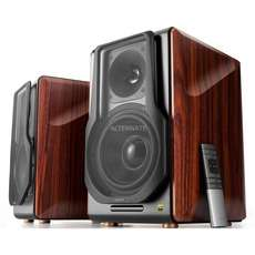 Alternate: Edifier S3000PRO, Lautsprecher, braun, 2 Stück, Bluetooth 5.0, apt:X