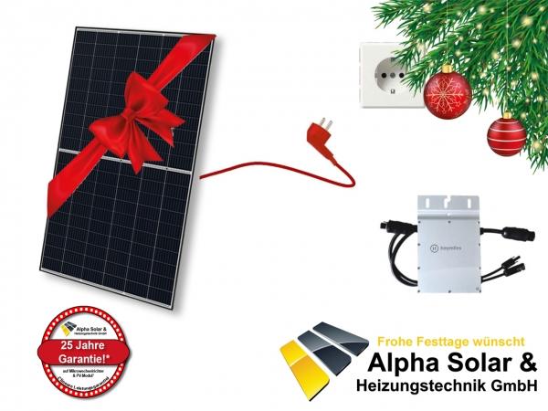 Lokal - [MÜNCHEN] Balkonkraftwerk 1x 330W Solarmodul + Wechselrichter + Kabel + Energiemessgerät