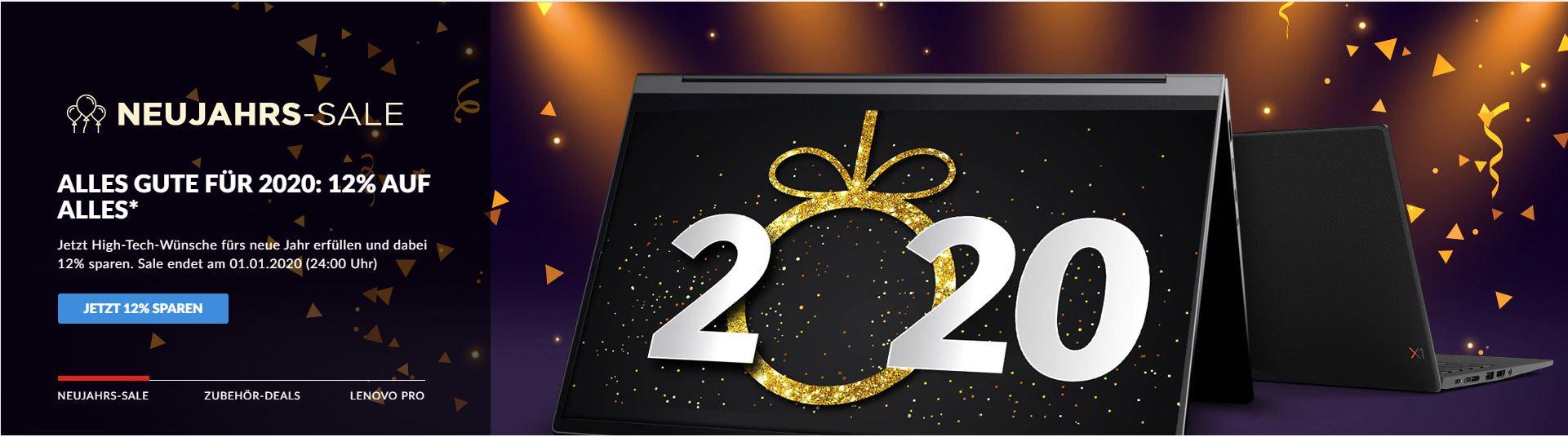 Lenovo 12% Neujahrs-Sale auf Alles*