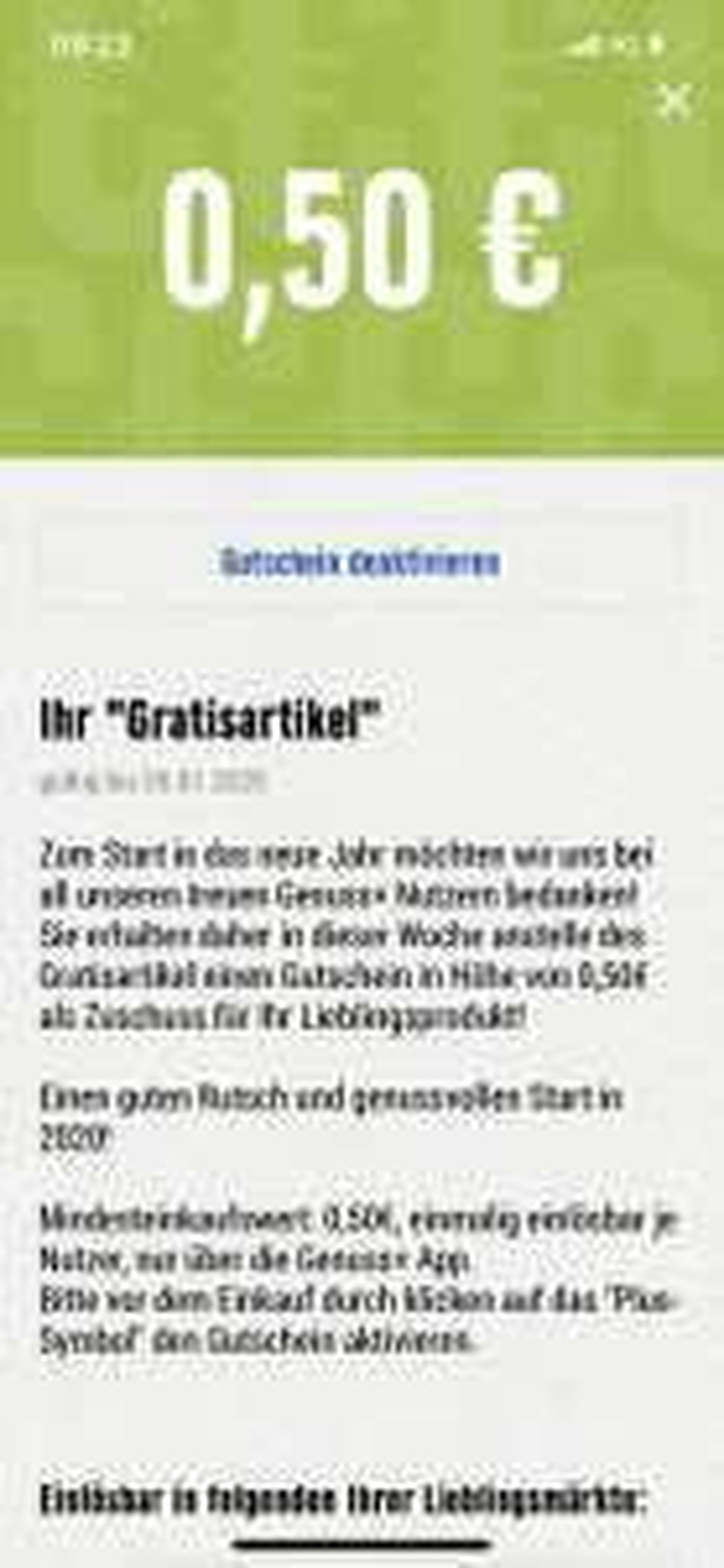 EDEKA Genuss+App 0,50€ Gutschein (Lokal NRW)