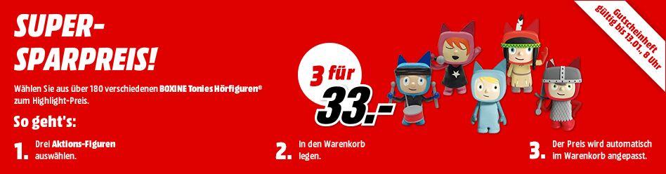 3 Tonies für 33€ zzgl. 1,99€ bei Versand [Media Markt online]