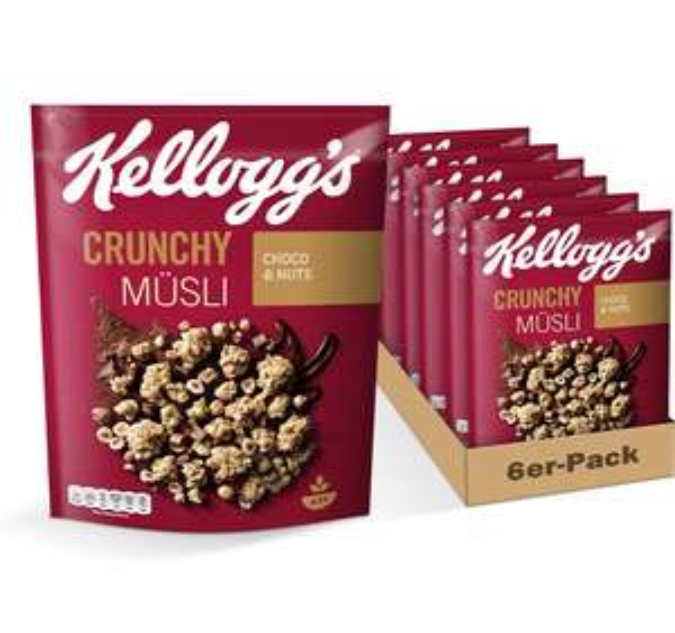 [Prime] Kellogg's Crunchy Müsli Choco&Nuts 6er Pack (3kg)