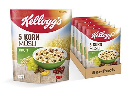 [Prime] Kellogg's 5-Korn Müsli Fruit, 5er Pack (5 x 500 g)
