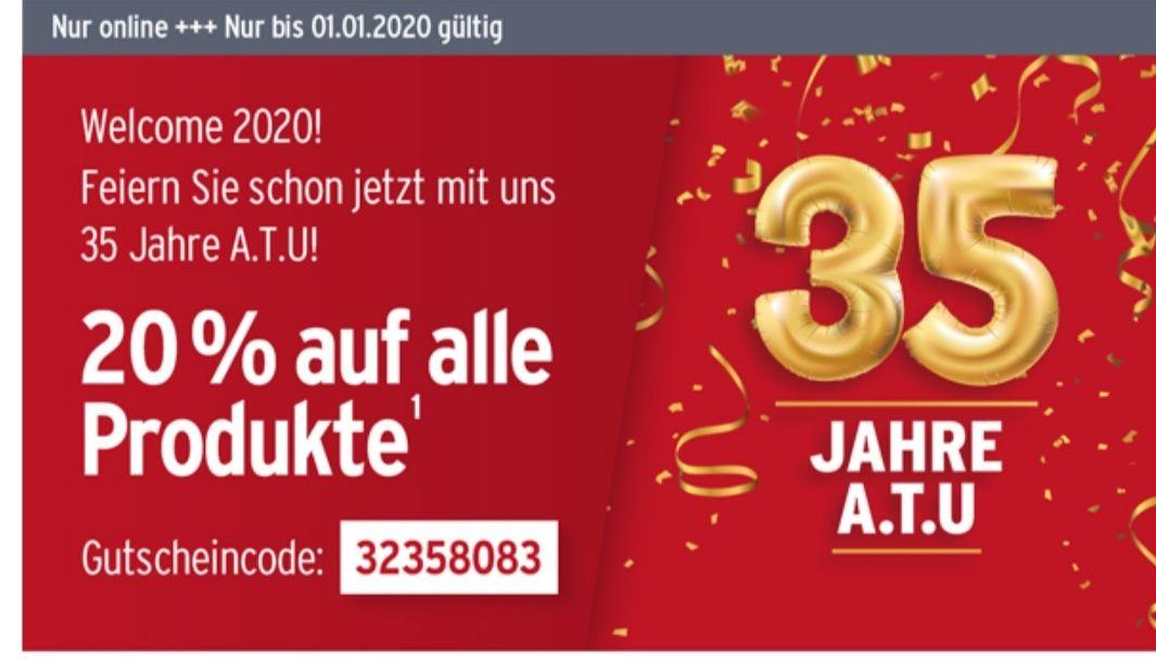 [ATU online] 35 Jahre ATU - 20% Rabatt auf ALLES bis 1.1.2020