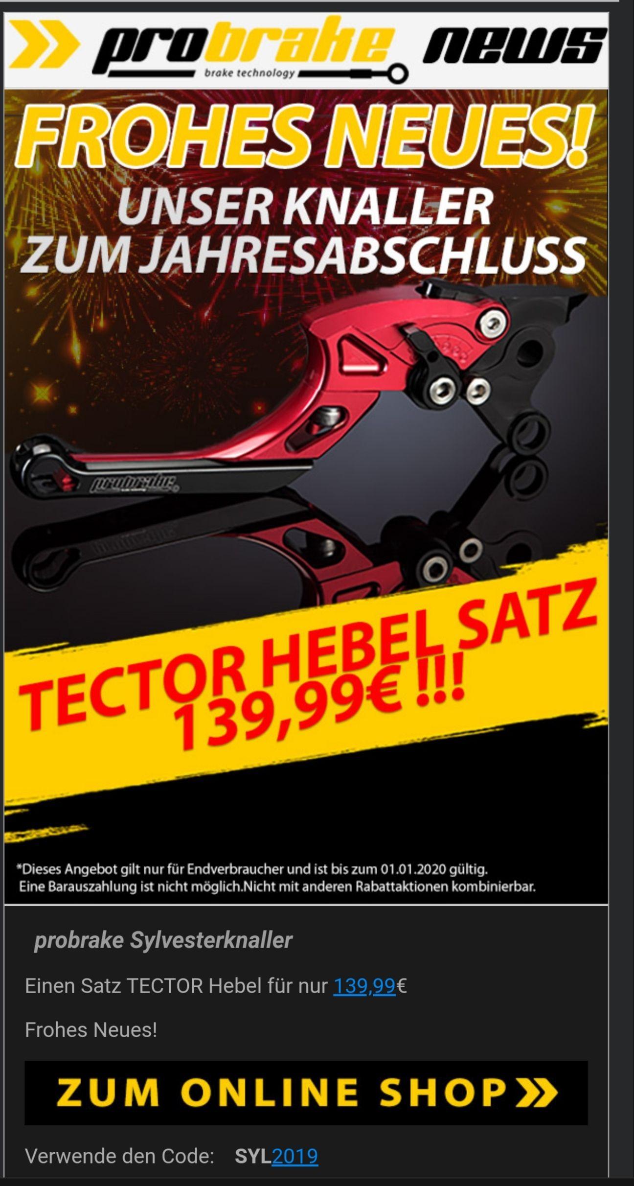 [Motorrad] Probrake Tector Set Kupplung & Bremshebel für 139.99