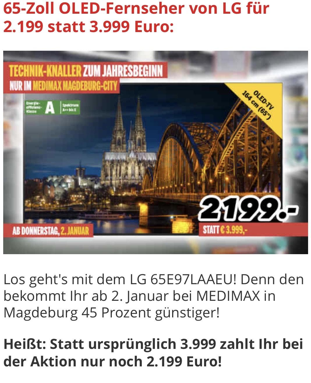 Lokal LG 65E97LAAEU Medi Max Magdeburg Citi