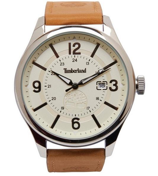 "Timberland Herren Armbanduhr mit Lederband z.B. ""TM2589"" für 52,44€, ""TM2587"" für 47,44€ inkl. Versand [MandM Direct]"