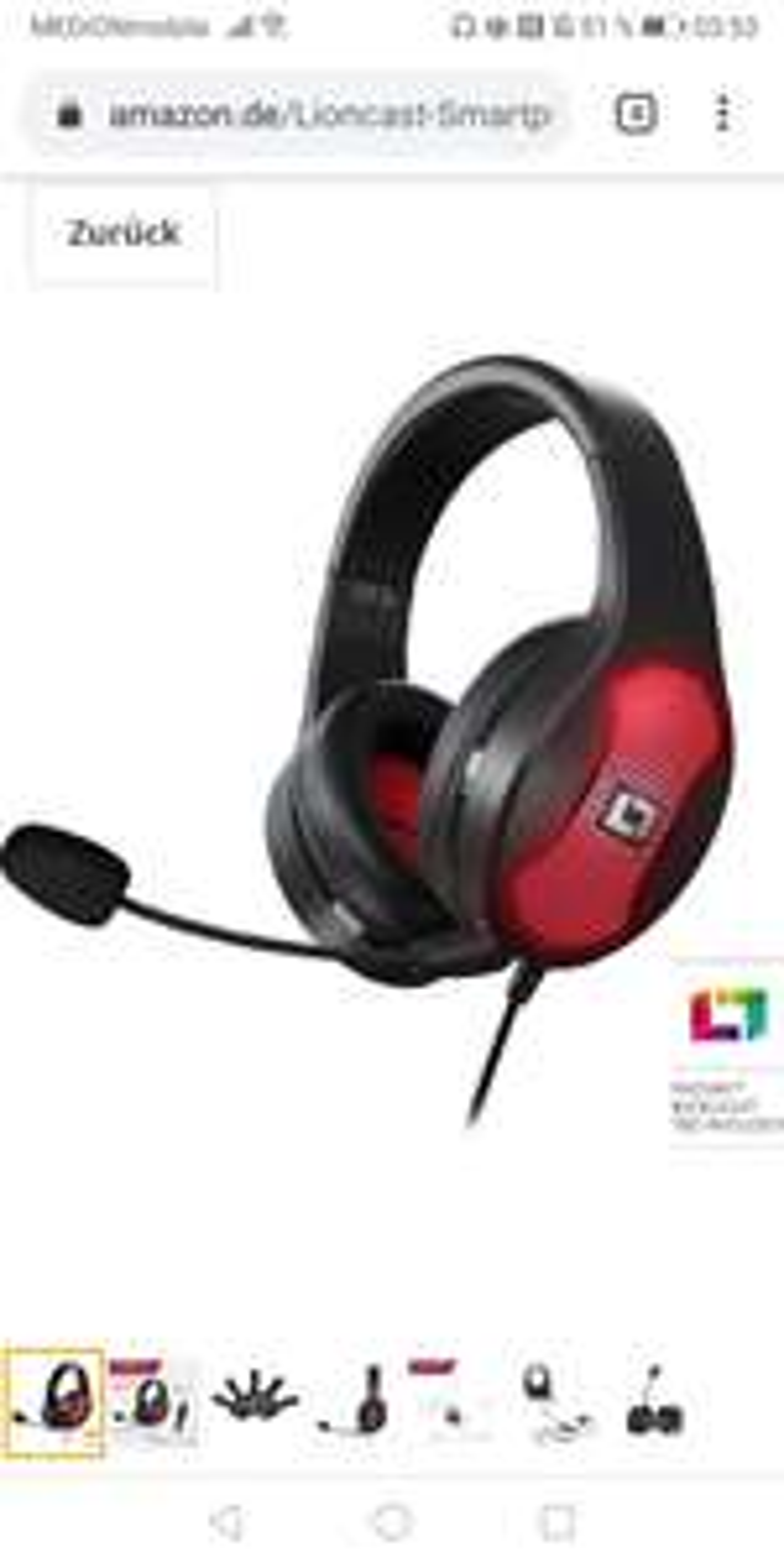 Lioncast LX30 rgb Headset