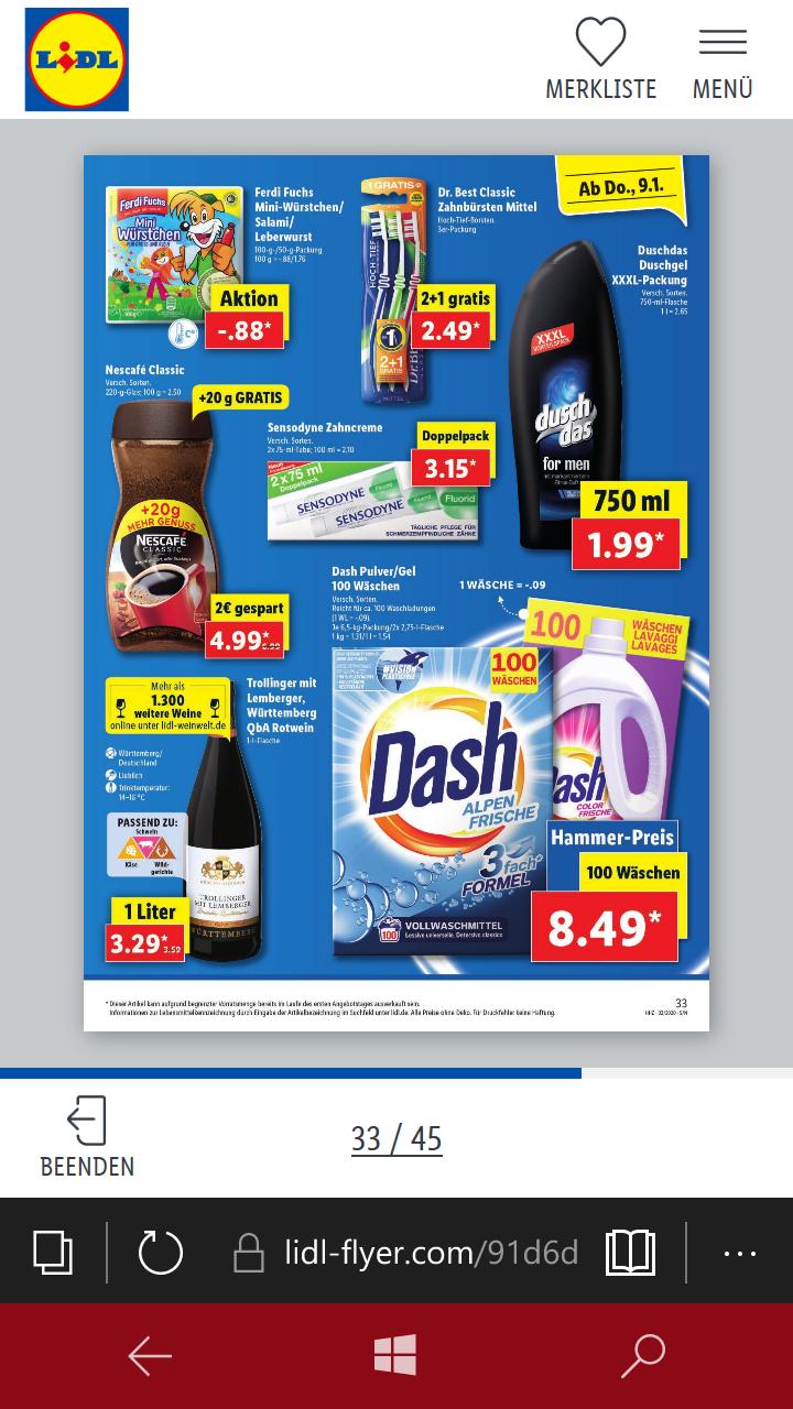 Ab dem 9. Januar 2020 bei LIDL (bundesweit): Duschdas-DUSCHGELE, verschiedene Sorten, Großflasche 750ml für 1,99€