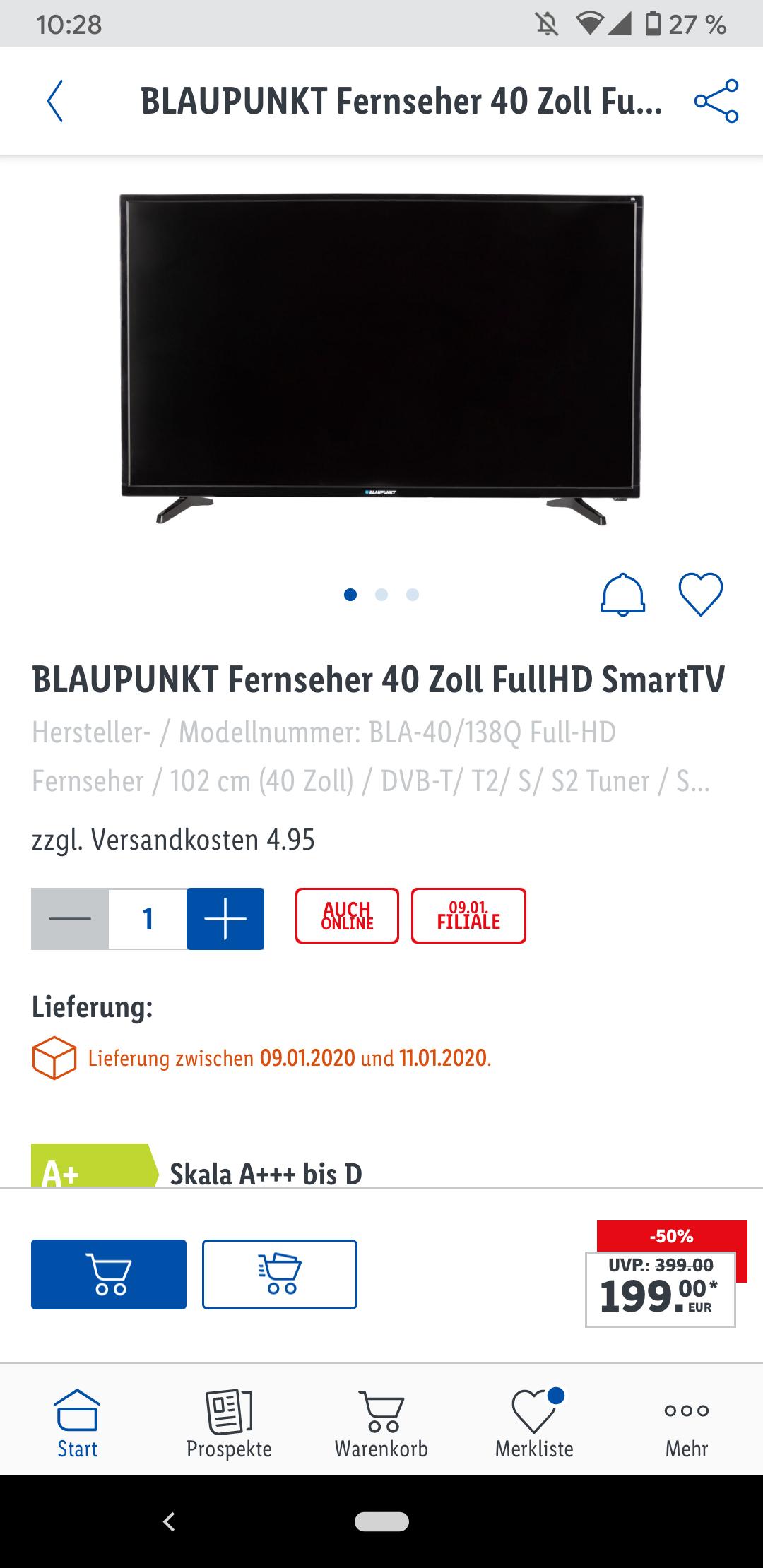 Blaupunkt FHD-Smart-TV BLA-40/138Q