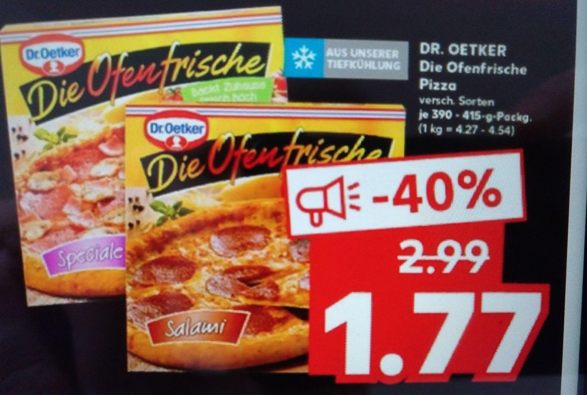 Kaufland: Dr. Oetker- Die Ofenfrische Pizza in verschiedenen Sorten
