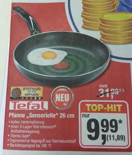 """[Metro] Tefal Pfanne """"Sensorielle"""" 26cm 11,89 € (statt 31,99 €)"""