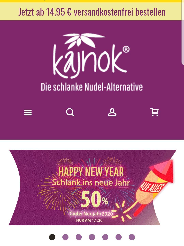 50% Rabatt auf alle Konjak Produkte