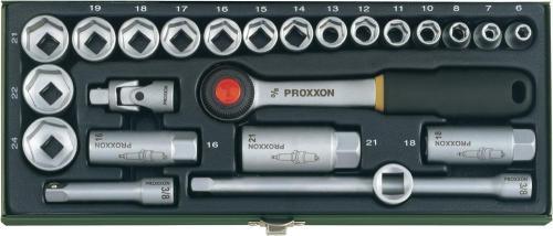 """[voelkner] WIEDER DA !! PROXXON 24tlg. Steckschlüsselsatz 10mm (3/8"""") -> 28,85"""