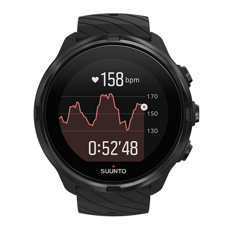 Suunto 9: Sportuhr - All Black (GPS, 7 Tage Akku, Herzfrequenzmessung, Wasserdicht bis 100 Meter)