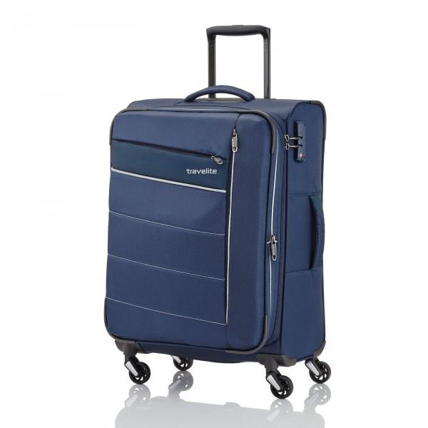 Travelite Kite Trolley 75 cm 4 Rollen erweiterbar blau