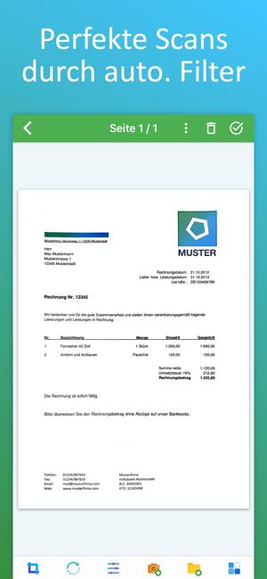 [iOS] Docutain, Scannen, (sichere) Dokumente Verwaltung + OCR & PDF