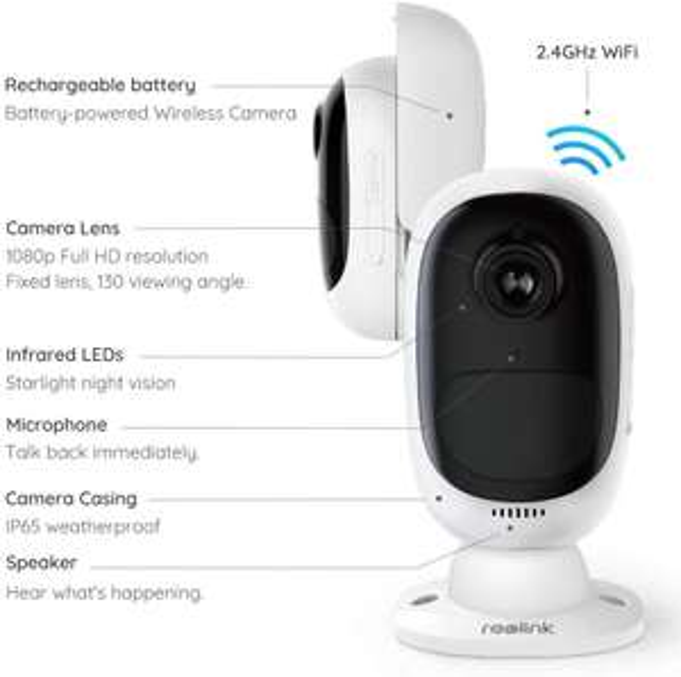 AMAZON.DE (Prime) Reolink Argus 2 kabellose WLAN-Akku-Kamera (aussen,1080p HD,PIR-Bewegungsmelder,SD-Karte,2-Wege-Audio)