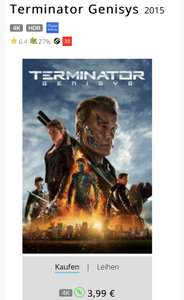 ITunes - Terminator Genesys - 4K - Dolby Vision
