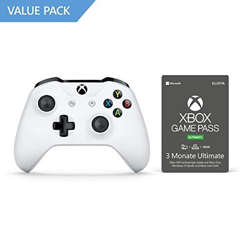 Xbox One S Wireless Controller (Weiß) + 3 Monate Xbox Game Pass Ultimate (Xbox One/PC) für 48,48€ (Amazon)
