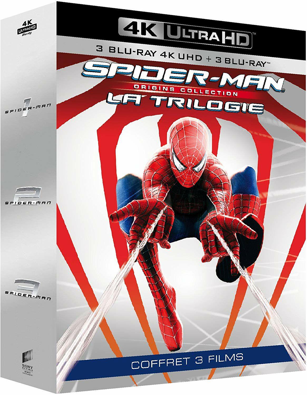 Spider-Man Origins Trilogie (4K Ultra HD Blu-ray) für 23.98€ (Amazon.fr)