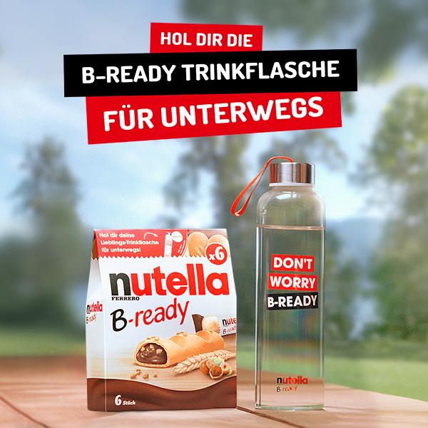 Kostenlose Nutella B-ready Trinkflasche beim Kauf von 3 Aktionspackungen