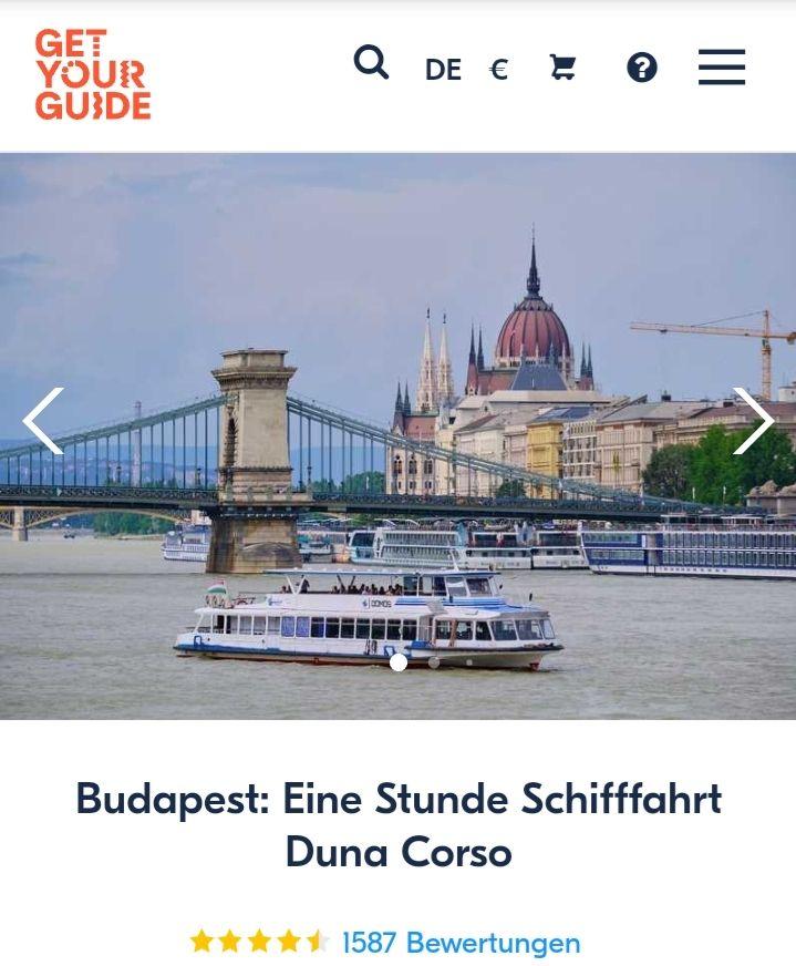 Budapest Donaufahrt mit Guide und Freigetränk
