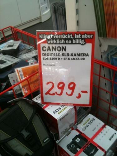 CANON EOS 1100D + EF-S 18-55 DC für 299,- beim Mediamarkt Weiterstadt
