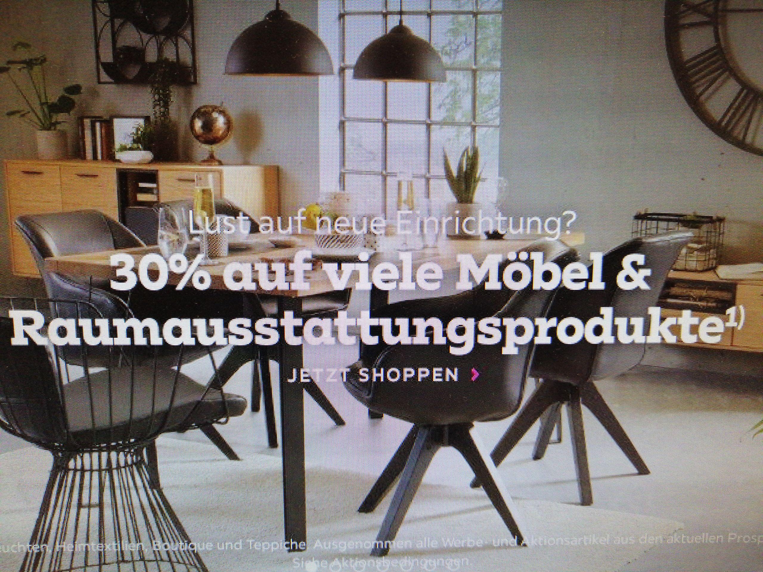 Mömax 30% auf fast Alles (optional 20€ bei 99€ MBW möglich)