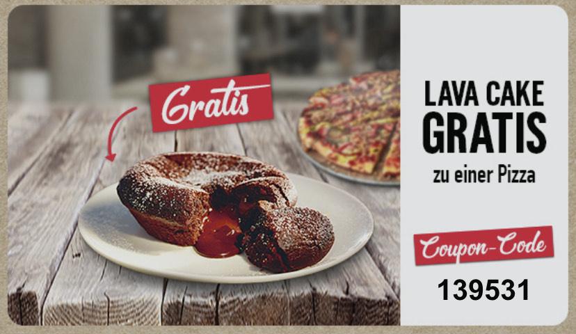 [Lokal-Dominos Pizza Nürnberg Mitte] Gratis Lava Cake beim Kauf einer Pizza
